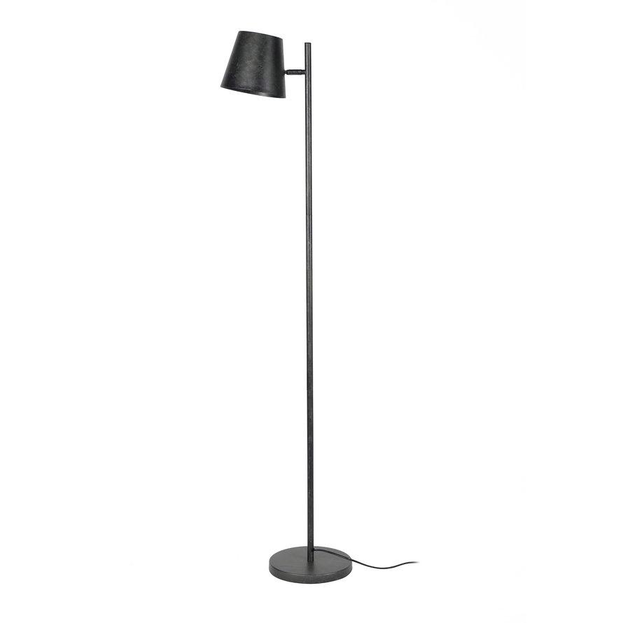 Industriële vloerlamp Elim metaal antraciet