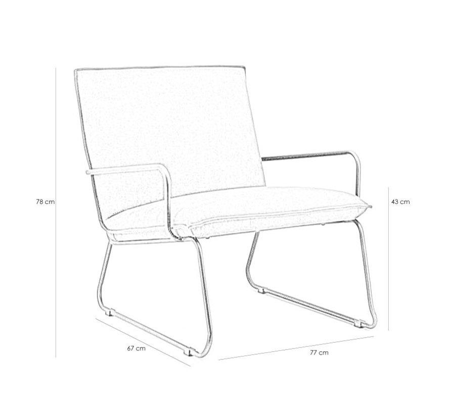 industriële  fauteuil Delta cognac