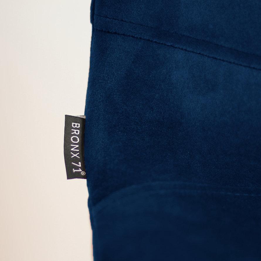 Velvet barkruk Mikky blauw 68 - 79 cm