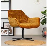 Bronx71 Moderne velvet fauteuil Lizzy okergeel