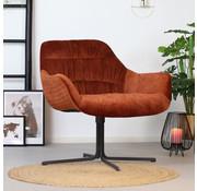 Bronx71 Moderne velvet fauteuil Lizzy koper