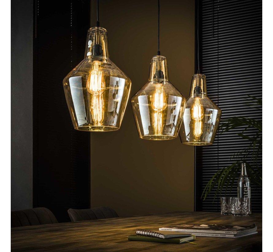Moderne hanglamp Borrel 3-lichts glas