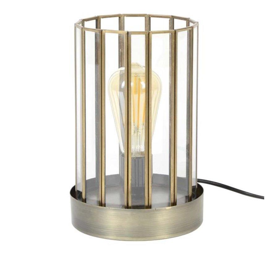 Industriële tafellamp Abby cilinder brons
