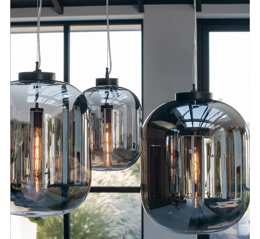 Hanglamp Smoke 30 cm 1-lichts glas