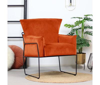 Bronx71 Moderne velvet fauteuil Lasse koper