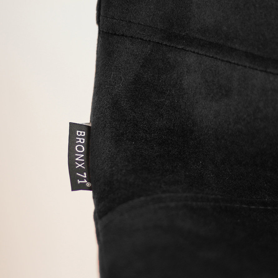 Velvet barkruk Mikky zwart 68 - 79 cm