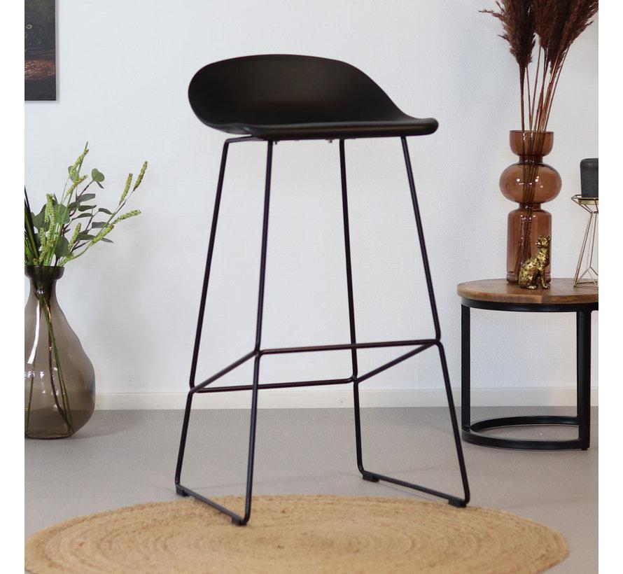 Barkruk Ellen zwart Scandinavisch design 76 cm