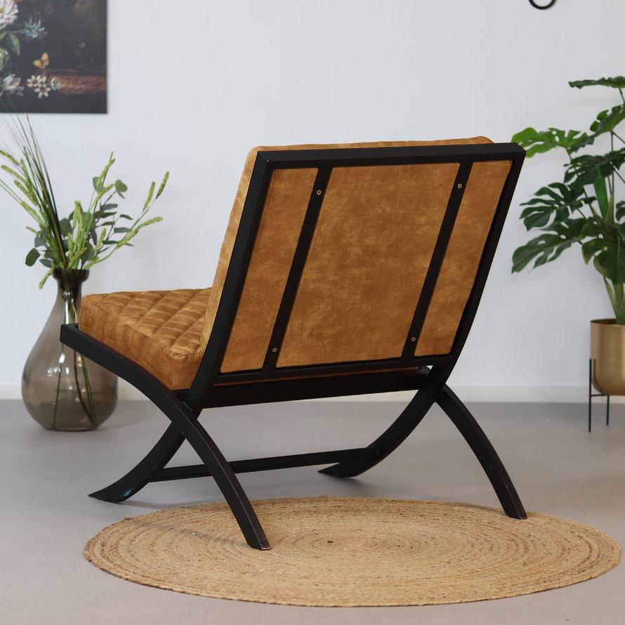 Design fauteuil Madrid velvet Luxury okergeel