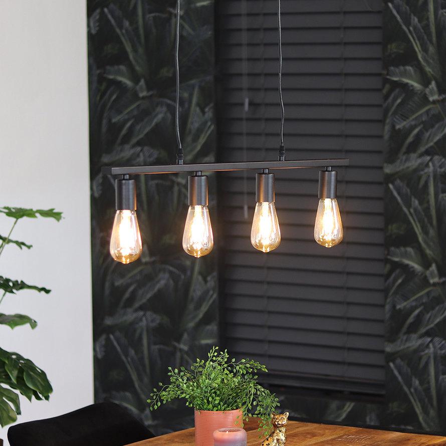 Hanglamp Straight 4-lichts metaal