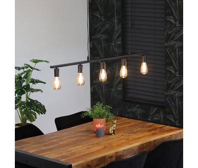 Bronx71 Hanglamp Straight 5-lichts metaal