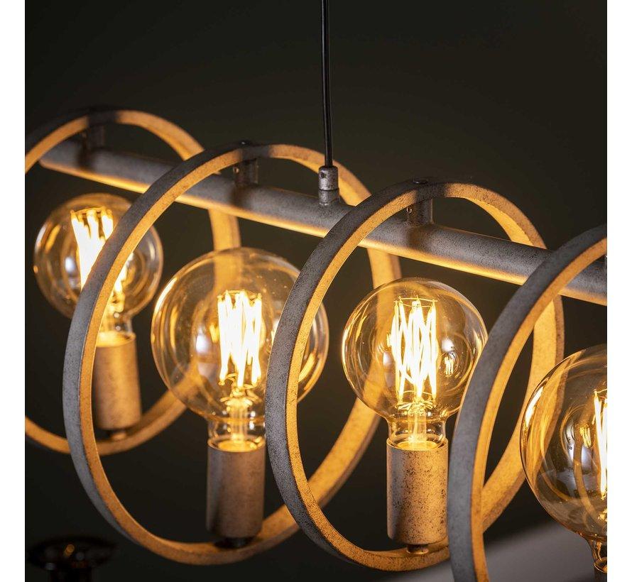 Industriële hanglamp Circle 7-lichts metaal