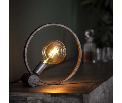 Industriële tafellamp Circle metaal  Ø30 cm