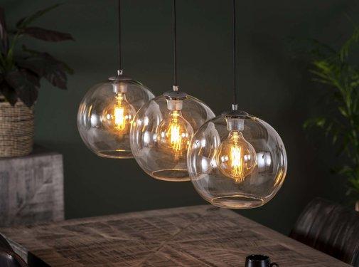 Design hanglamp Eye 3-lichts glas