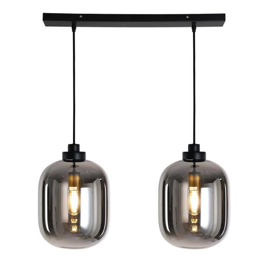 Hanglamp Smoke 30 cm 2-lichts glas