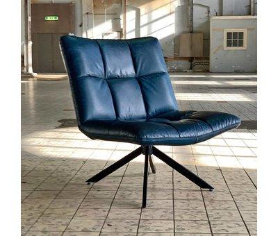 Bronx71 Industriële fauteuil Club blauw leer