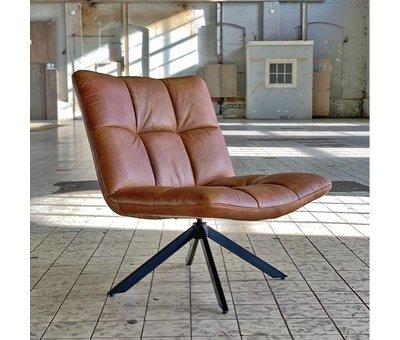Bronx71 Industriële fauteuil Club cognac leer