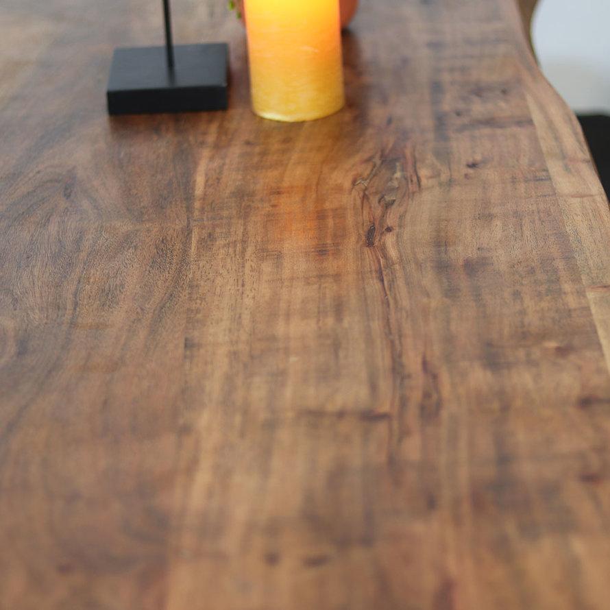 Industriële bartafel Jack Acaciahout 150 x 50 cm
