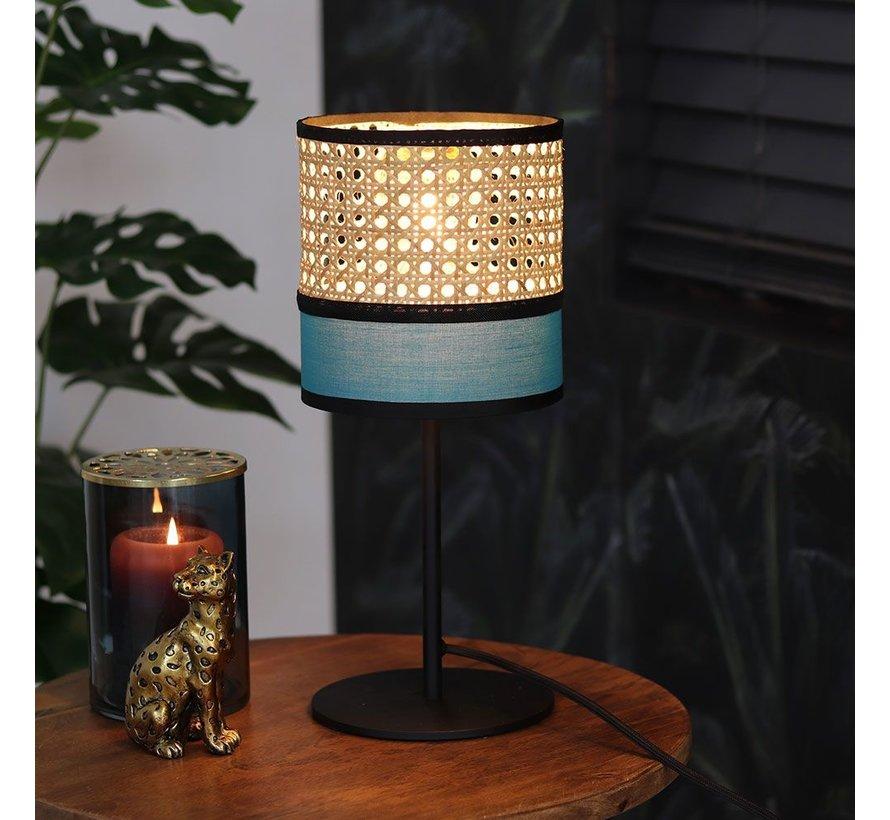 Tafellamp Diaz 1-lichts rotan/metaal