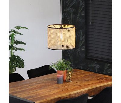 Bronx71 Moderne hanglamp Kyle 1-lichts Rotan