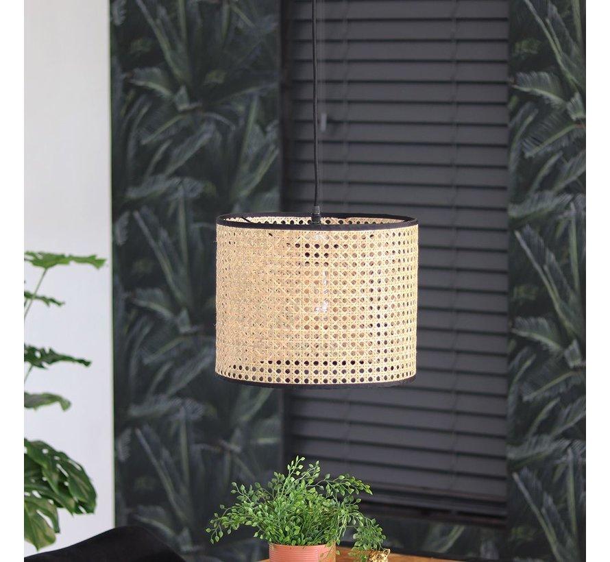 Moderne hanglamp Kyle 1-lichts Rotan