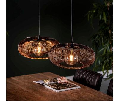 Industriële hanglamp Hailey 2-lichts metaal