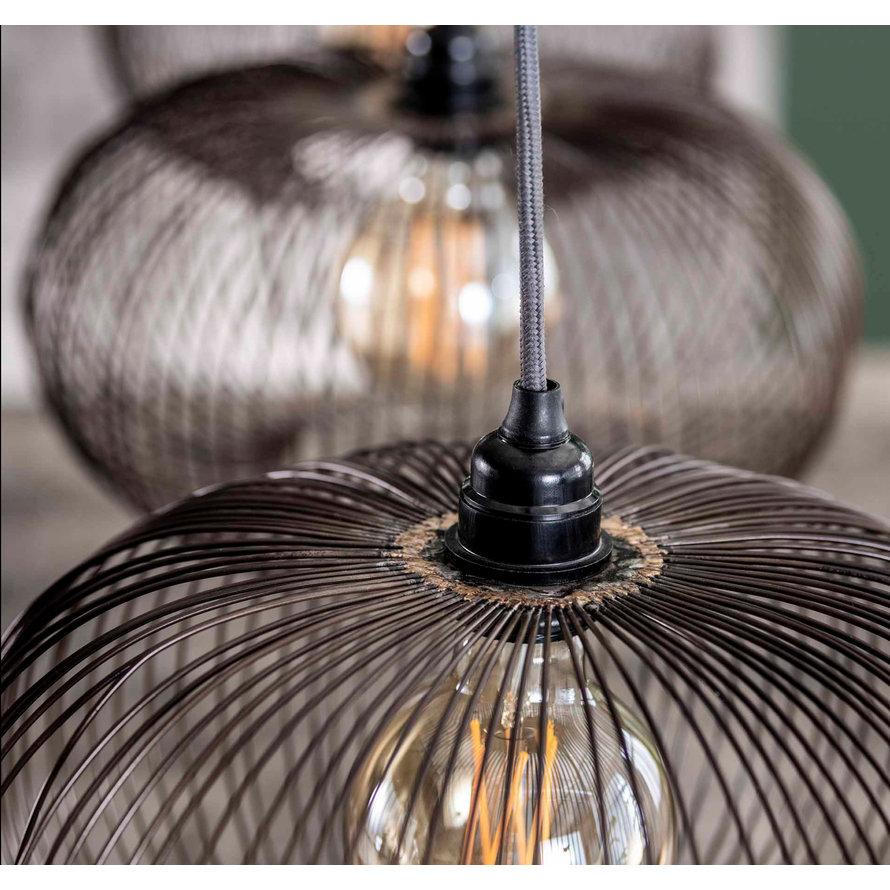 Industriële hanglamp Hailey 4-lichts metaal
