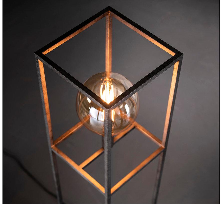 Industriële vloerlamp Finley metaal