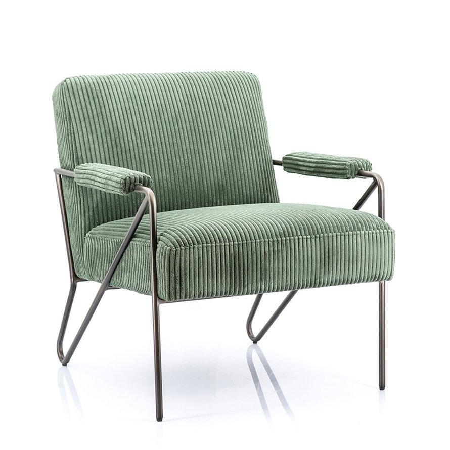 Fauteuil Avery corduroy groen