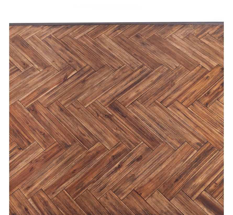 Eetkamertafel Hudson acaciahout bruin 240 x 100 cm visgraat