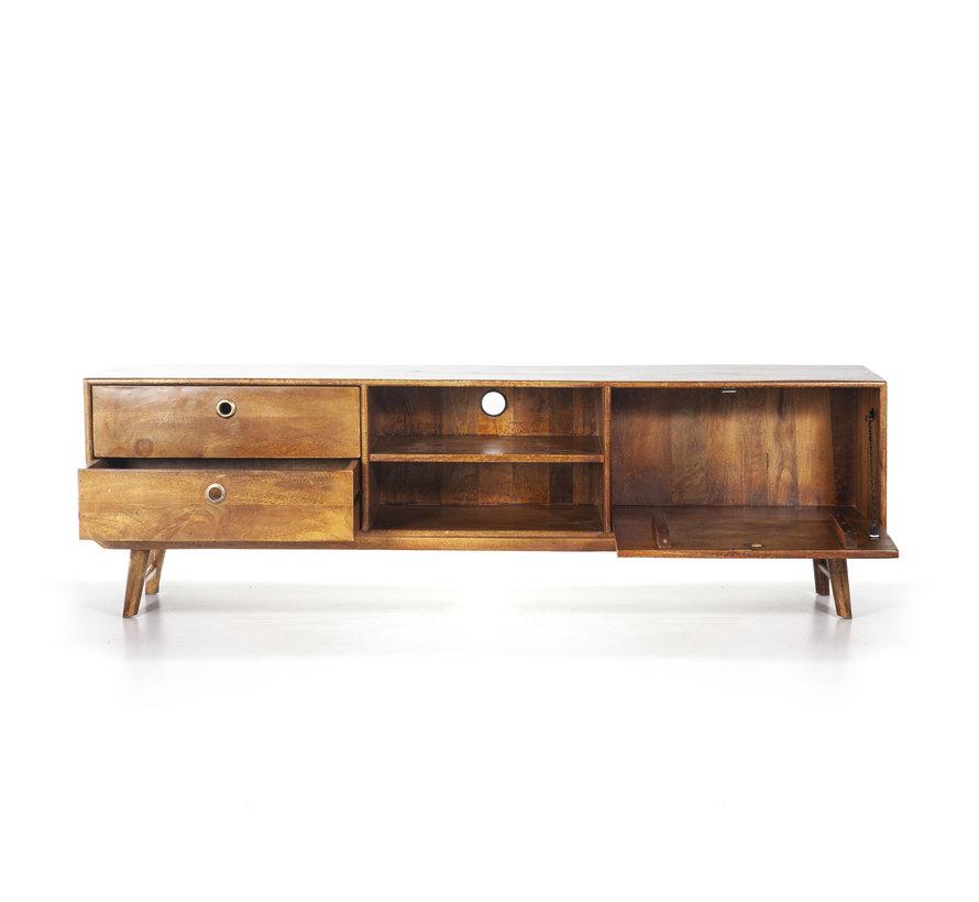Tv-meubel Wisconsin 180 cm mangohout