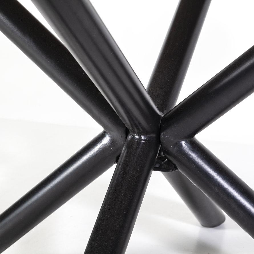 Eettafel rond met kruispoot mangohout Ø130cm