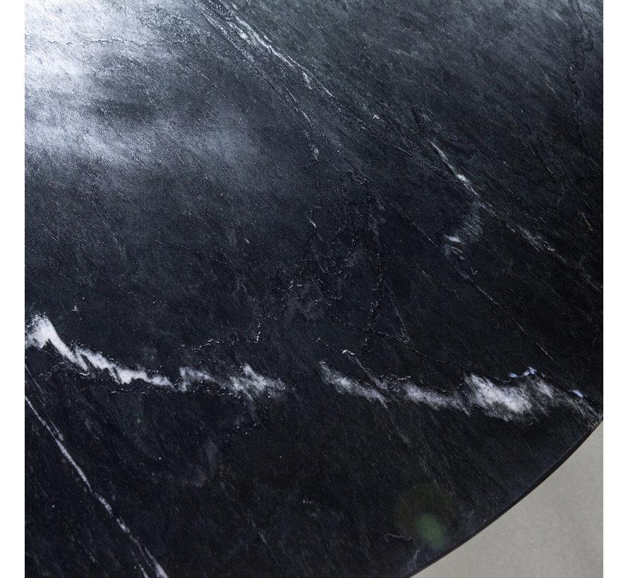 Eettafel marmer rond Remy 130x78 cm