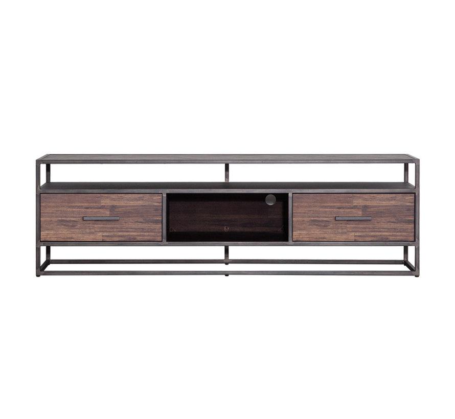 TV meubel Hudson acaciahout 185 cm bruin visgraat