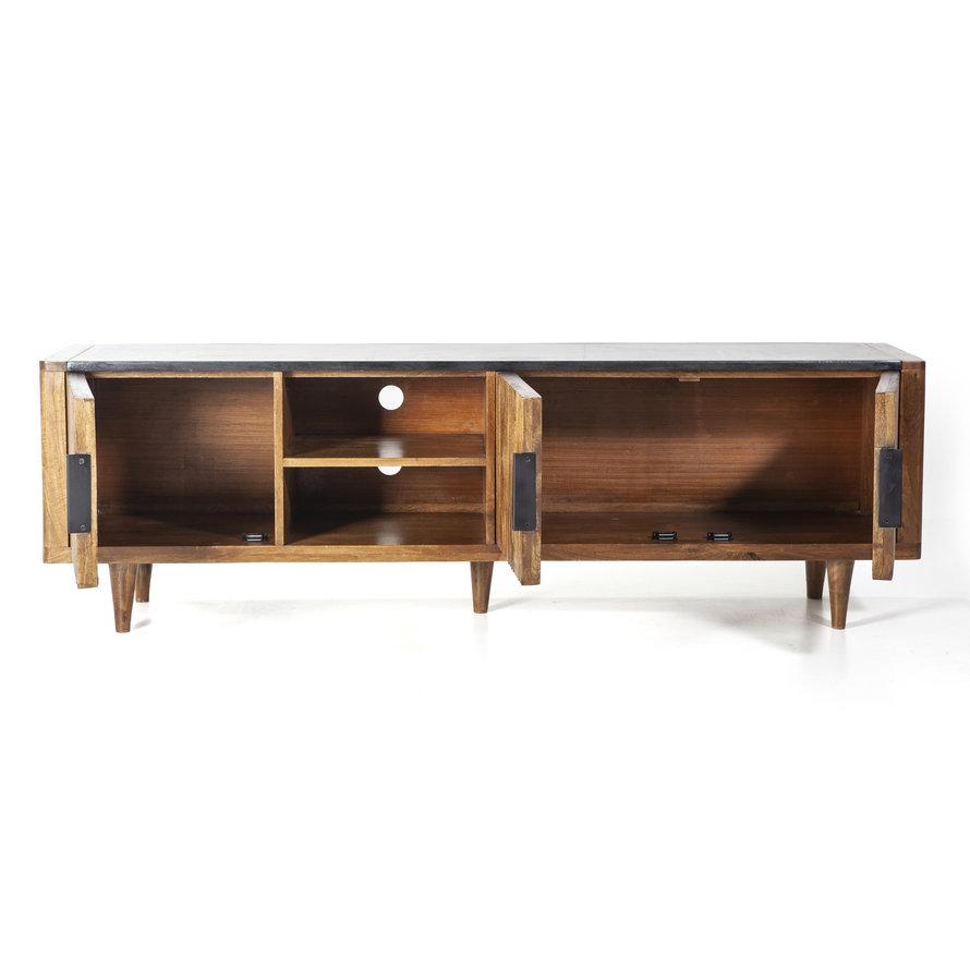 Tv-meubel Carter mangohout 3drs bruin
