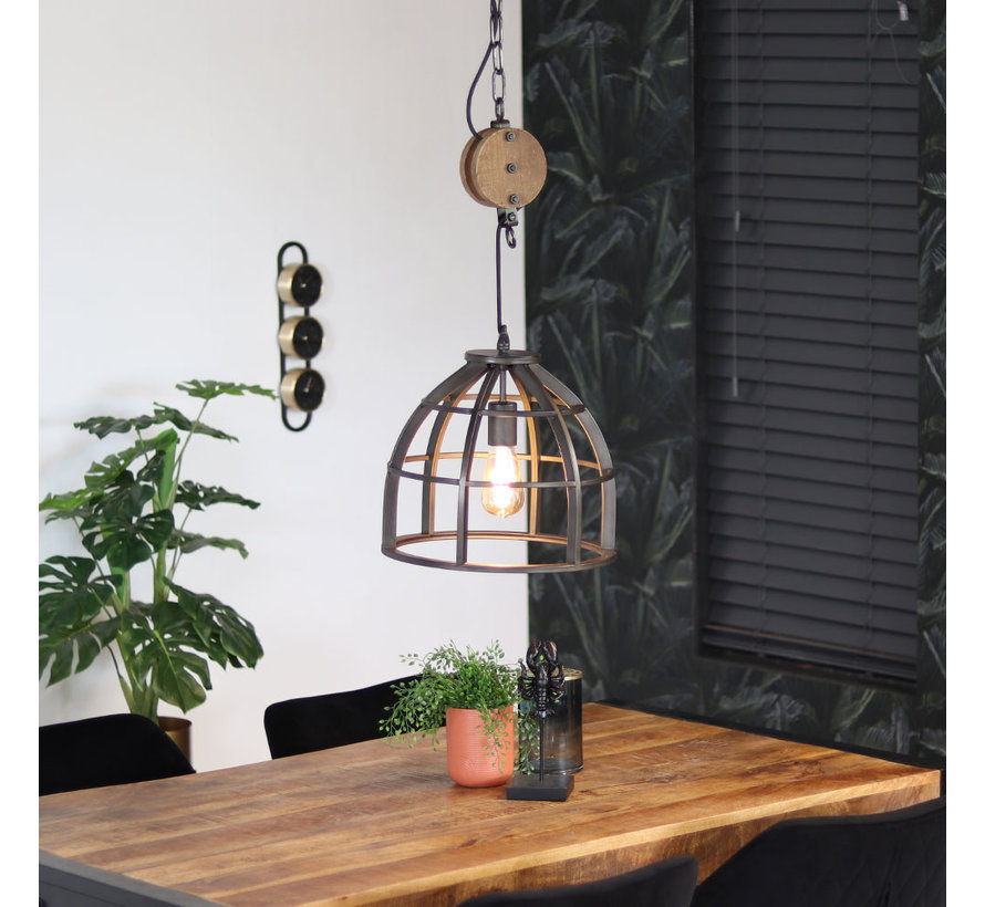 Industriële hanglamp Noah 1-lichts metaal