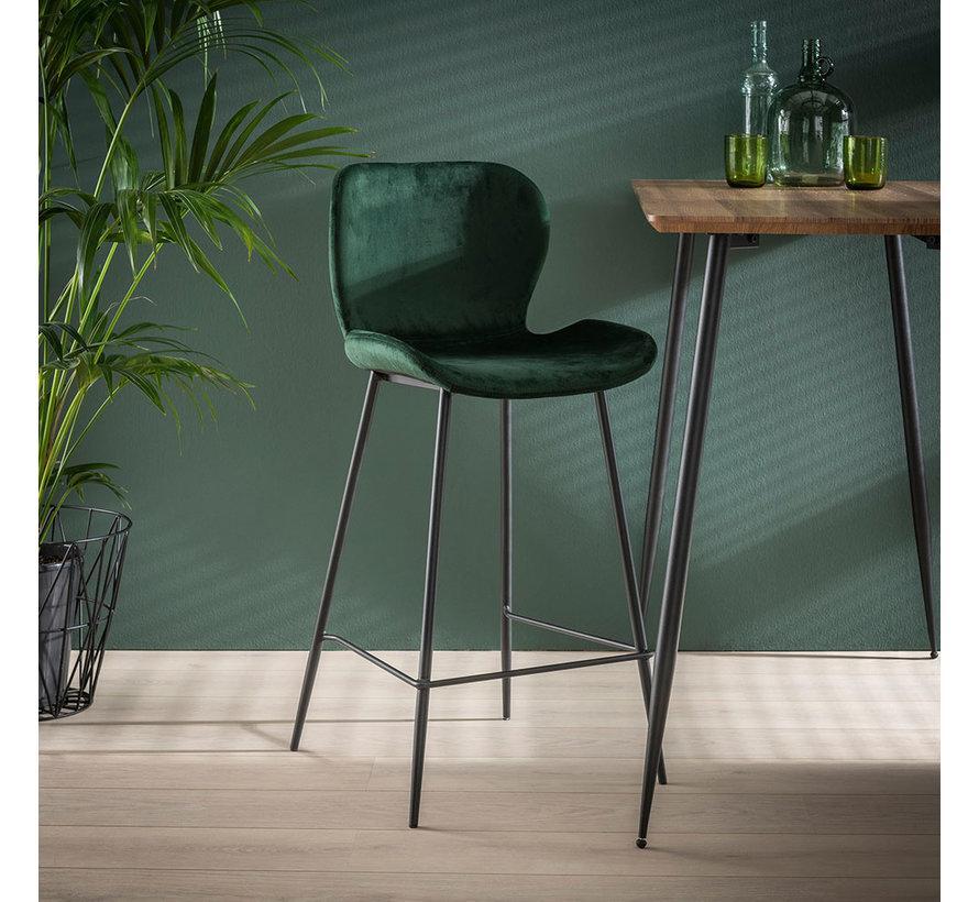 Velvet barkruk Eden groen 67 cm