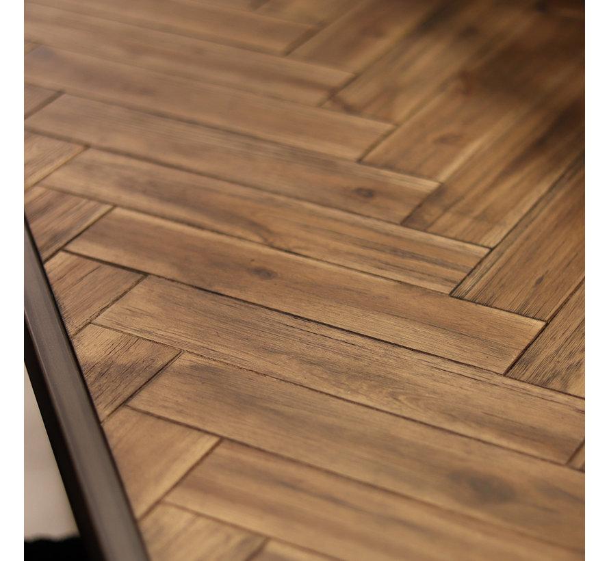 Eetkamertafel Hudson acaciahout bruin 200 x 100 cm visgraat