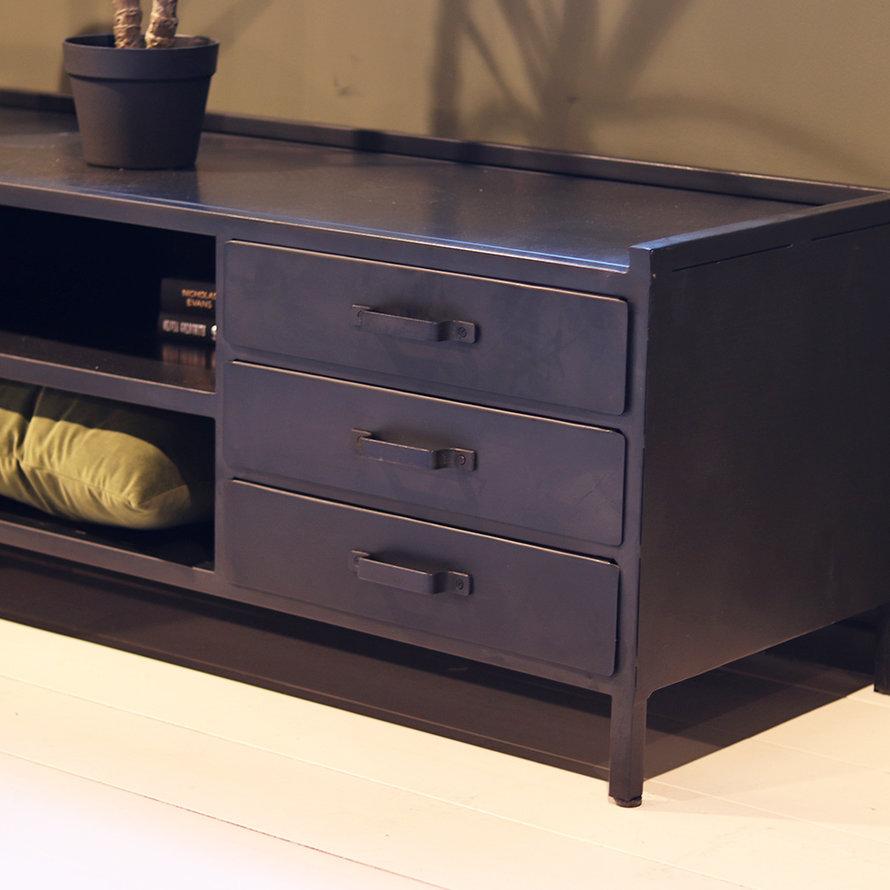 Tv-meubel industrieel Jada 1drs. 3 laden