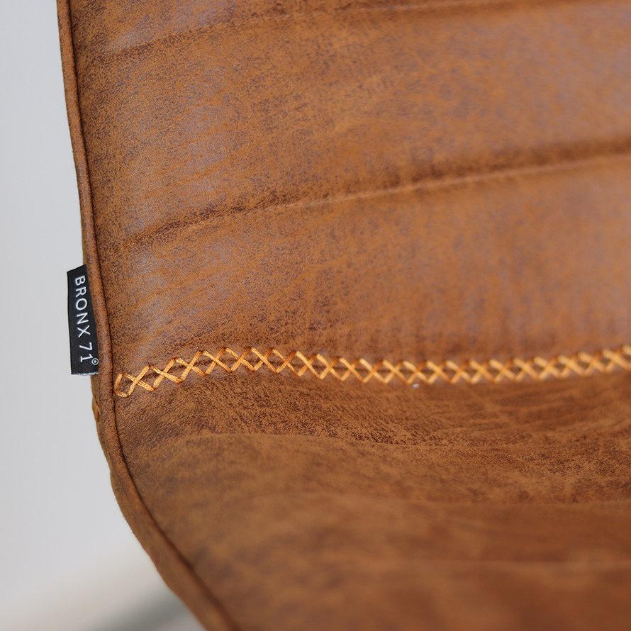 Industriële barstoel Jackson cognac leer 73 cm