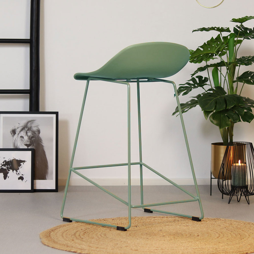 Scandinavische Barkruk Ellen groen 66cm