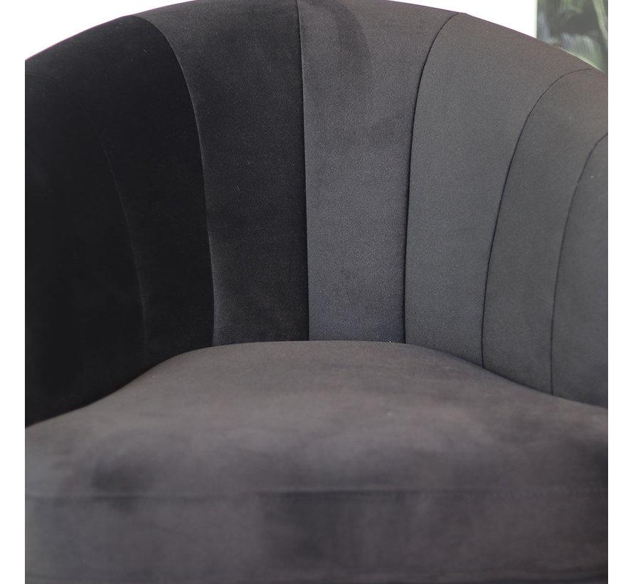 Moderne fauteuil Amy velvet zwart