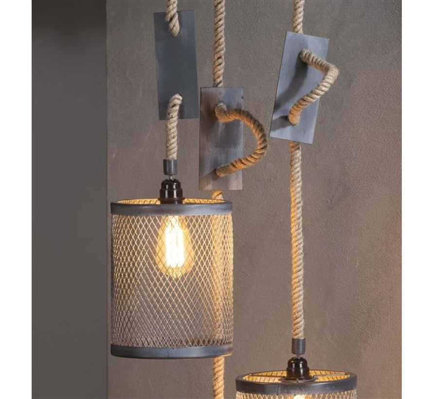 Industriële hanglamp Liam 3-lichts metaal Ø20
