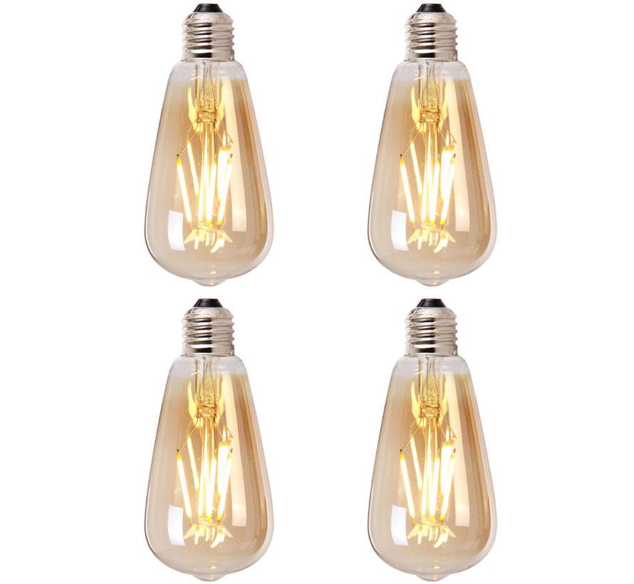 Lichtbron LED druppel 14,5 cm (set van 4) gold
