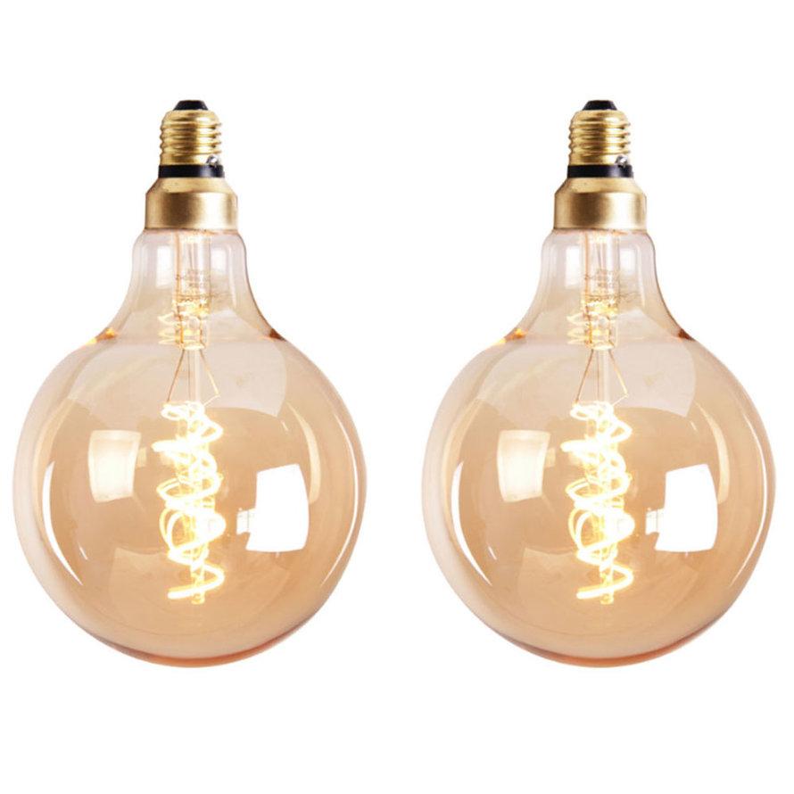 Lichtbron LED bol Ø12,5 cm (set van 2) gold