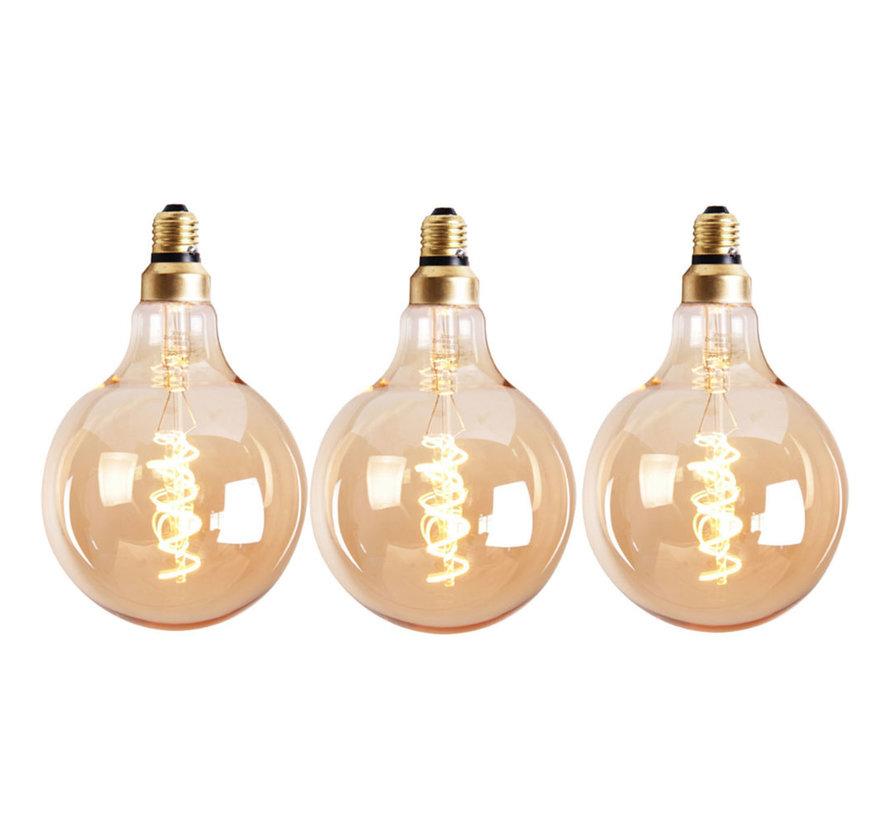 Lichtbron LED bol Ø12,5 cm (set van 3) gold