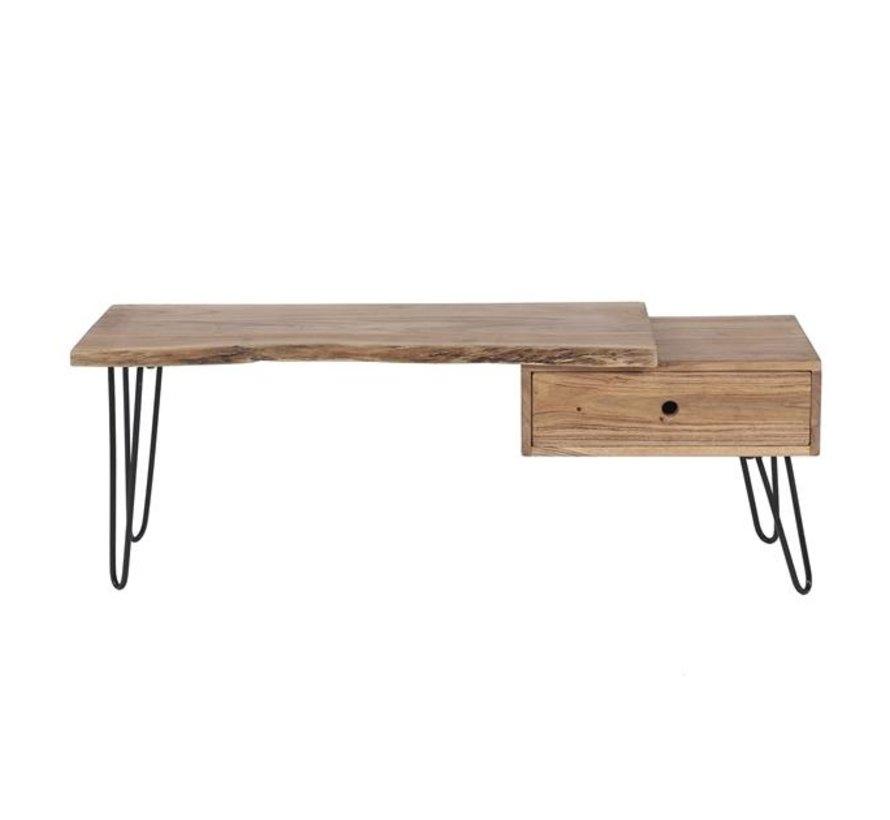 Industrieel tv meubel Evan acaciahout 1 lade