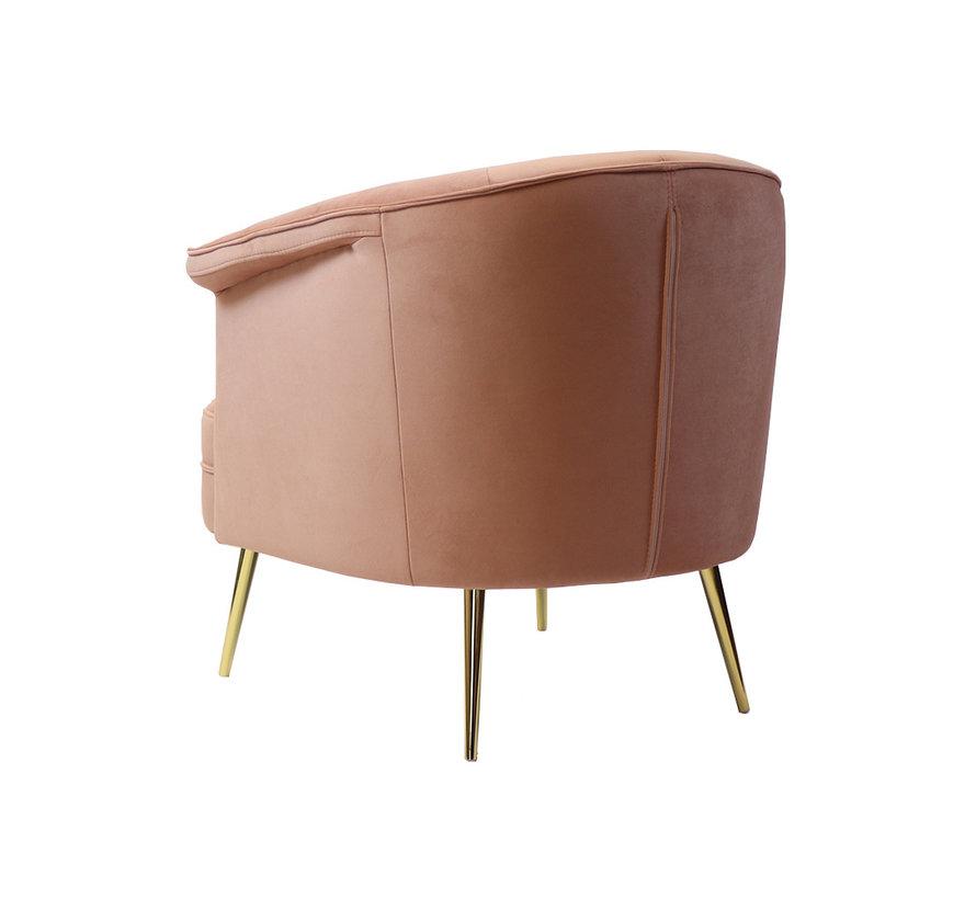 Velvet fauteuil Amy roze