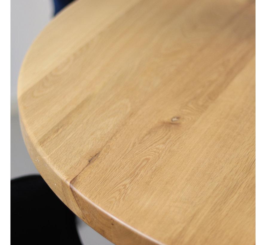Ronde eettafel Sven eikenhout Ø120 cm