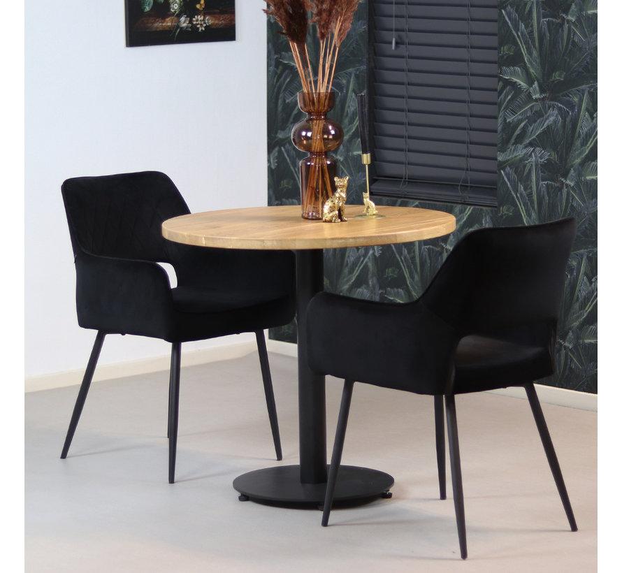 Bistrotafel Sven eikenhout Ø80 cm