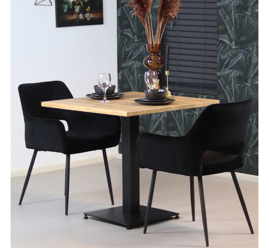 Bistrotafel Sven eikenhout 80 x 80 cm